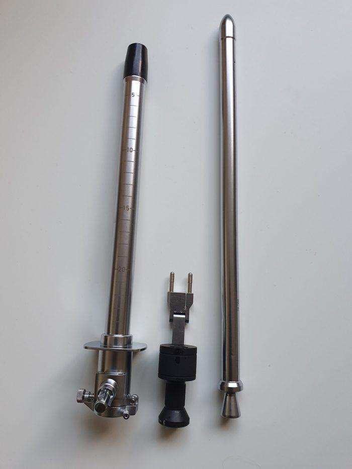 Heine fiber optic sigmoidoscope with distal annular illumination scaled